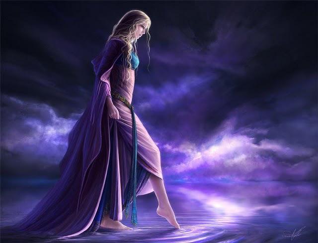 mujer-lago-violeta