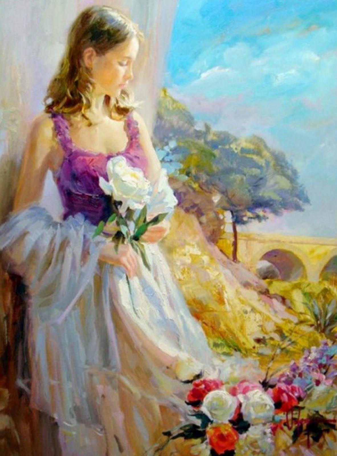 Retratos De Mujeres Con Flores 6 El Lenguaje Del Adiós