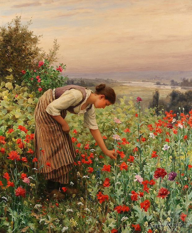 daniel_ridgway_knight_girl_picking_poppies